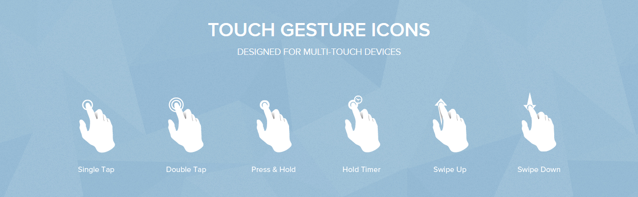 touch-gesture icons by mobile tuxedo